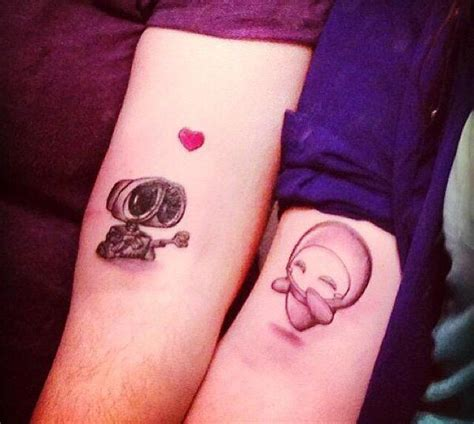sweet couple tattoos best 25 disney tattoos ideas on small