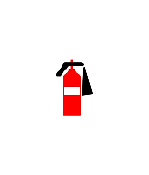 fire extinguisher fire and emergency planning vector