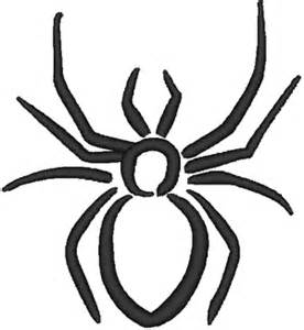 spider in outline embroidery design
