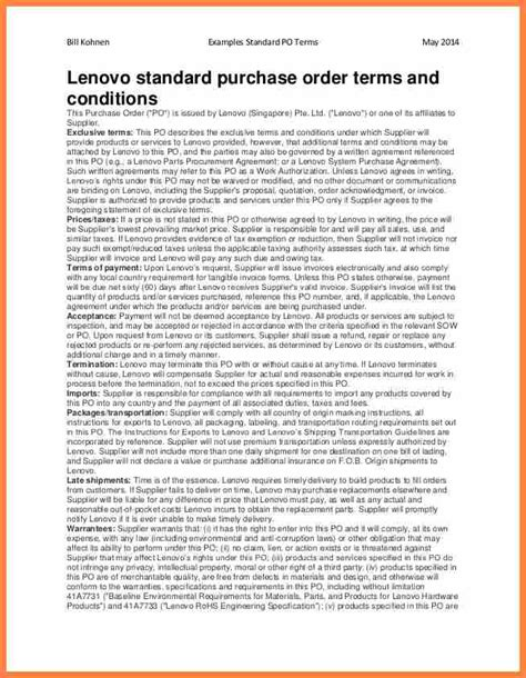 7 purchase order terms and conditions template uk
