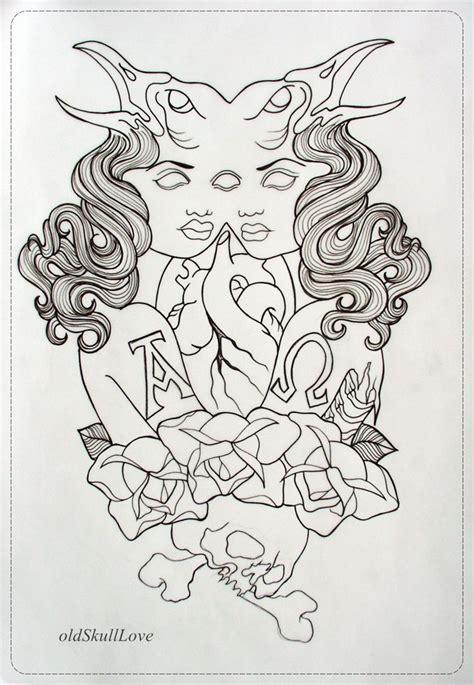 tattoos outline design design outline by oldskulllovebymw deviantart