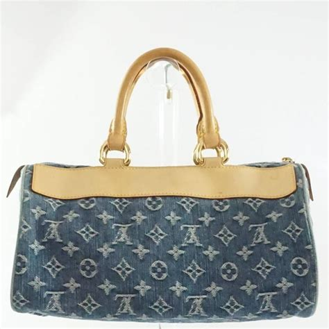 louis vuitton denim monogram top handle bag