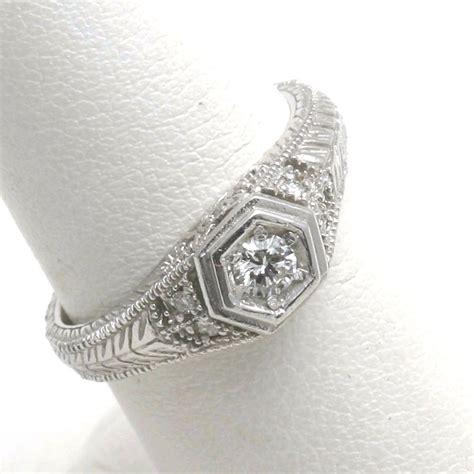 new 14k white gold filigree ring vintage