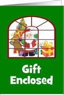 Text Santa Gift Card - money enclosed christmas cards from greeting card universe