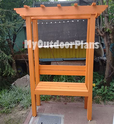 arbor with bench seat diy arbor bench myoutdoorplans free woodworking plans and projects diy shed