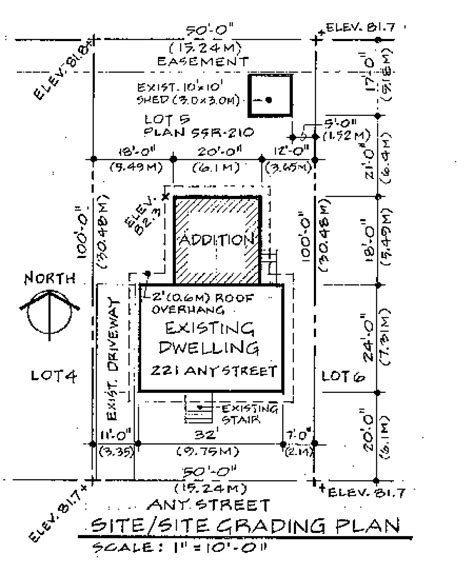 site plan drawings site plan or survey requirements