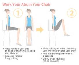 Office Chair Ab Workout Exercise At Work Without Getting Embarrassed On The