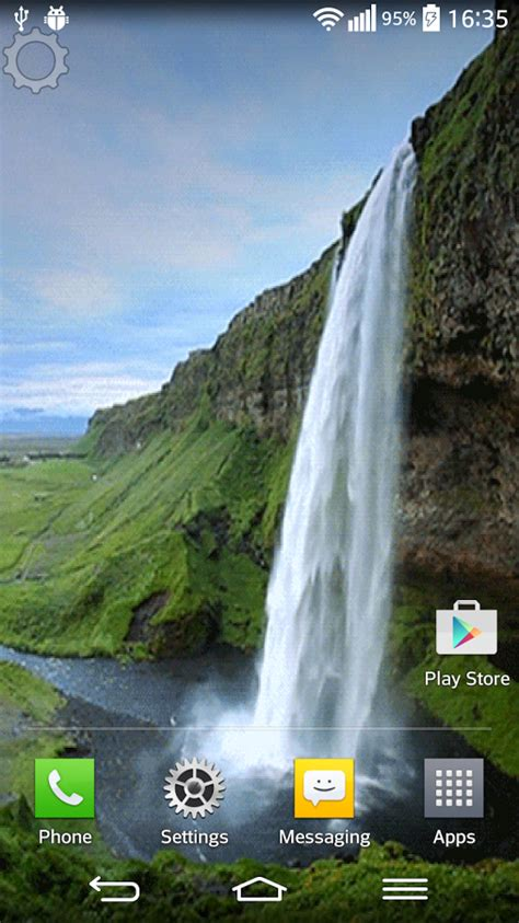 waterfall sound  wallpaper  android    software reviews cnet downloadcom