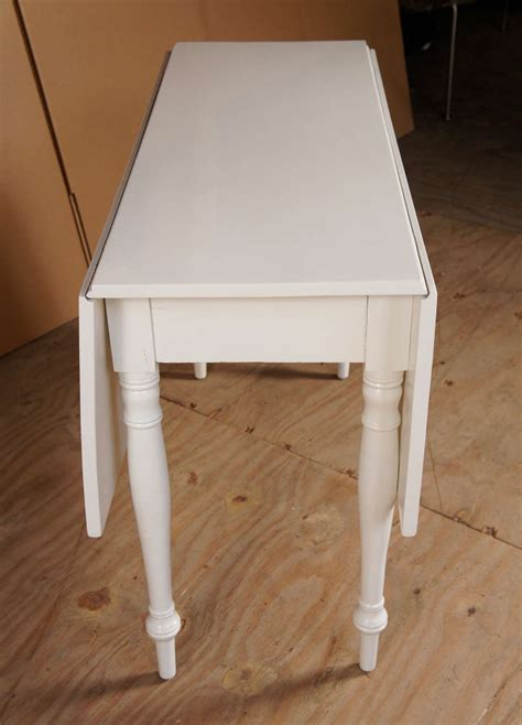 Drop Leaf Table White White Drop Leaf Table At 1stdibs