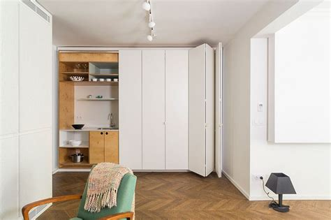 Hidden Kitchen, Shelves and Space Saving Features of