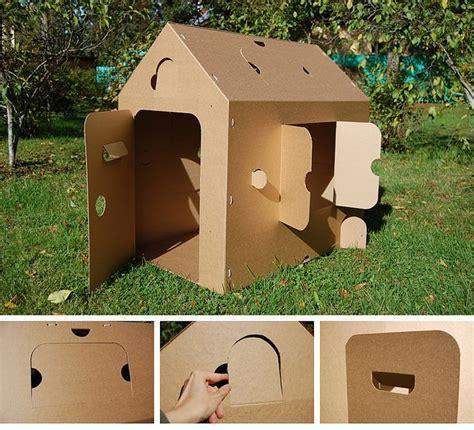 decoracion de cajas de carton reciclado casas con cajas de carton casas mu 241 ecas pinterest