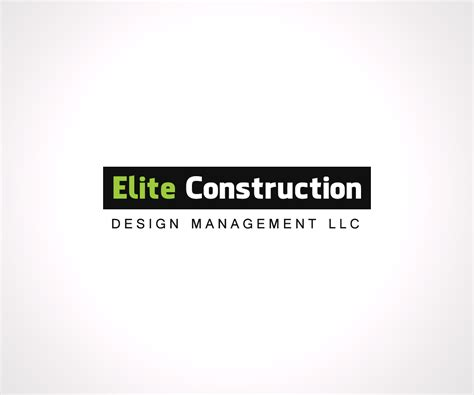 design management lcc professional serious logo design for elite construction