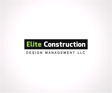 design management lcc professional serious logo design for elite construction