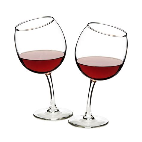 wine glasses tipsy wine glasses funny glass goblets uncommongoods