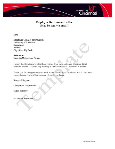Pension Transfer Letter Format Sle Early Retirement Letter To Employer Cover Letter Templates