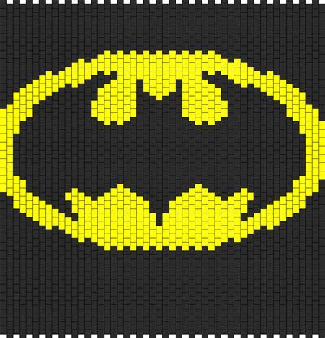 batman logo pony stitching batman backpack bead pattern peyote bead patterns