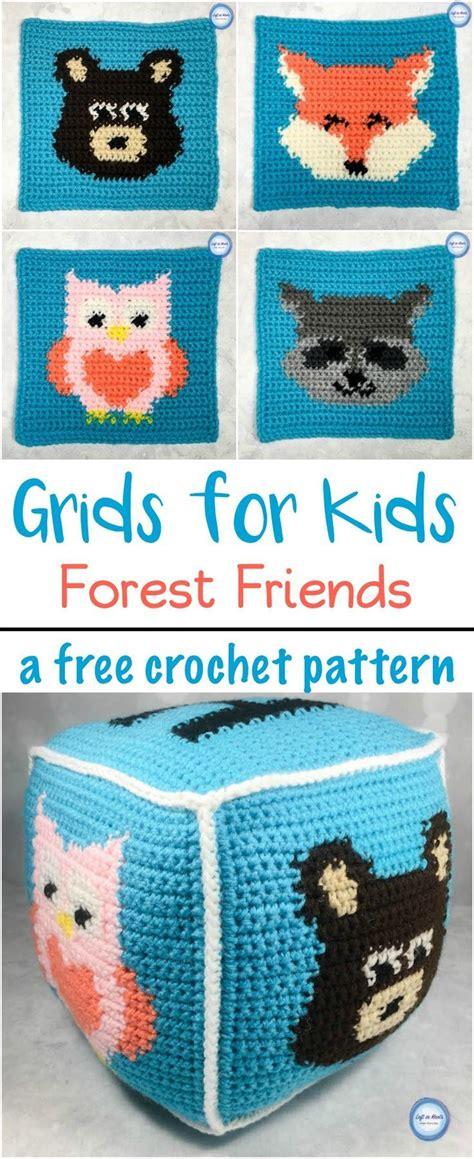 grids  kids forest friends crochet crochet square