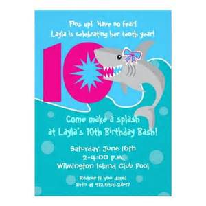 shark bite invite 10th birthday