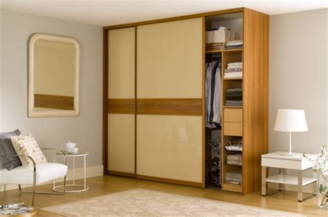 Sliding Doors For Fitted Wardrobes by Fitted Sliding Wardrobe Doors In Glass Walnut Dado