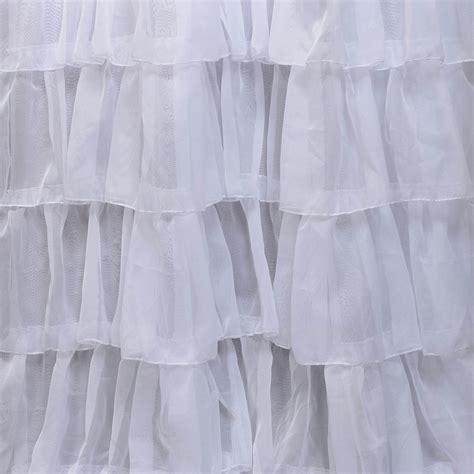 layered sheer curtains amelia layered ruffle sheer curtain half price drapes