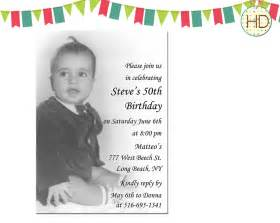 photo birthday invitation 50th birthday party by hdinvitations