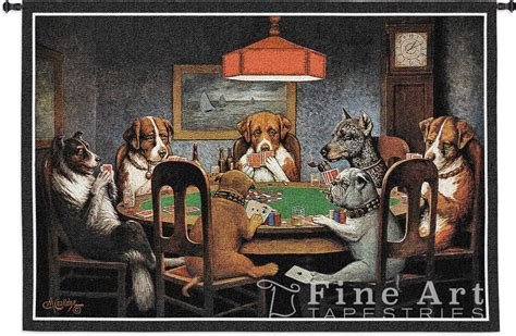 How To Decorate A Country Home Dogs Playing Poker Tapestry Wall Hanging A Friend In Need