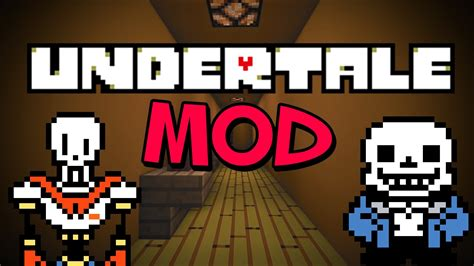 mod in minecraft youtube undertale mod minecraft mod showcase youtube