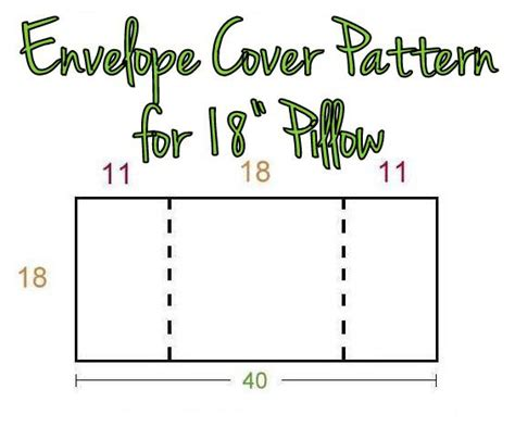 envelope back pillow case pattern easy envelope back pillow cover pattern tutorial the