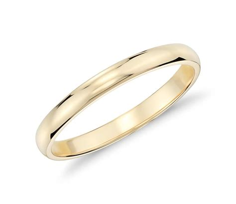 Wedding Rings Yellow Gold 18k by Classic Wedding Ring In 18k Yellow Gold 2mm Blue Nile