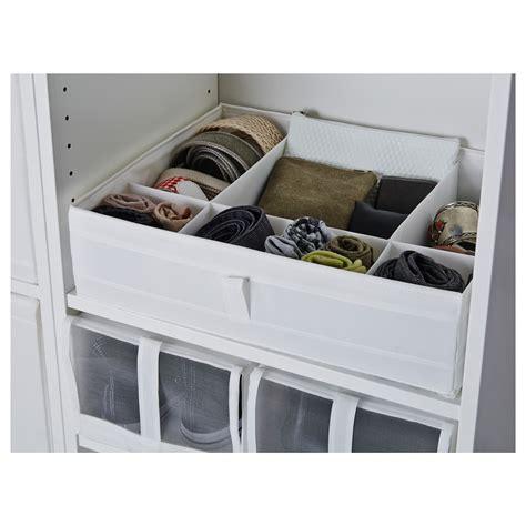 skubb ikea skubb box with compartments white 44x34x11 cm ikea