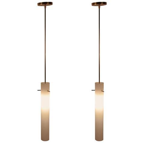 Cylinder Light Fixtures Pair Of Glass Cylinder Light Fixtures At 1stdibs