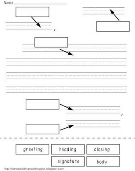 Writing A Business Letter Grade 6 label parts of a friendly letter freebie grade