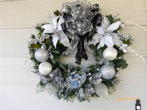 silver heirloom wreath christmas wreath christmas