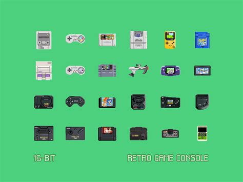console 16 bit 16 bit retro console freebie by claudio gomboli