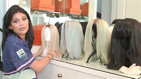 does kyle wear hair extensions kylie jenner shows off her wig collection gives tour of