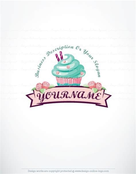 exclusive design cup cake logo compatible free business