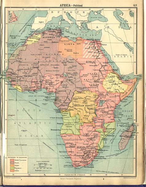 africa map in 1922 africa scanned maps map library msu libraries