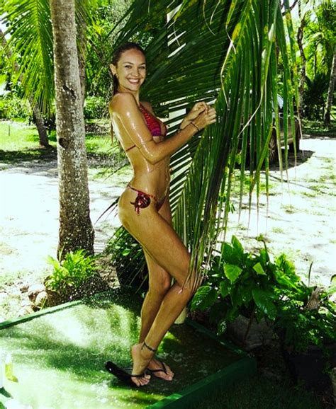 Candice Shower by Candice Swanepoel Takes An Outdoor Shower In The Jungle