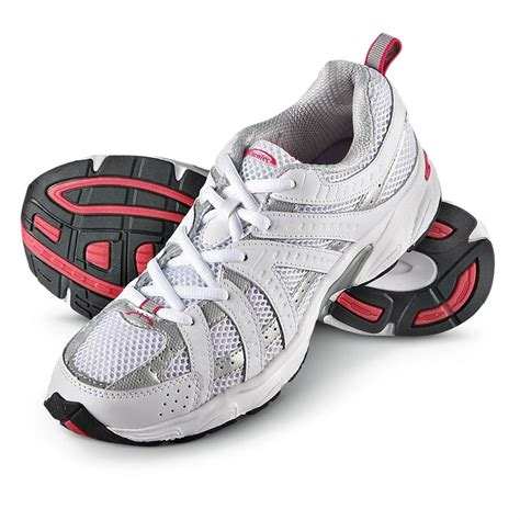 womens pink athletic shoes s turntec 174 athletic shoes white gray pink