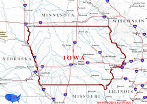 us map iowa iowa maps
