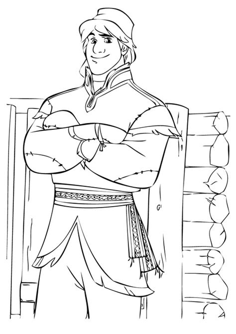 frozen coloring pages kristoff frozen kristoff and coloring pages get coloring pages