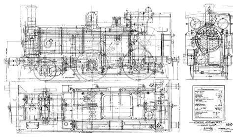 0 Locomotive Drawings by P Class Steam Locomotive Blueprints