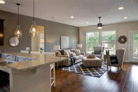 Model Home Family Room Pictures by Falcon Ridge Estates Zircon Model Home Transitional