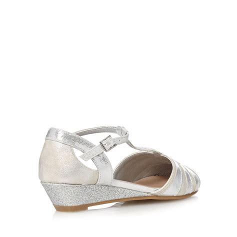 silver low wedge sandals bluezoo s silver closed toe low wedge sandals from