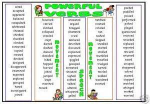 primary teaching resources powerful verbs help mat