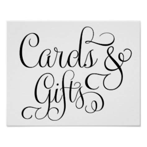 cards and gifts sign template wedding sign posters zazzle