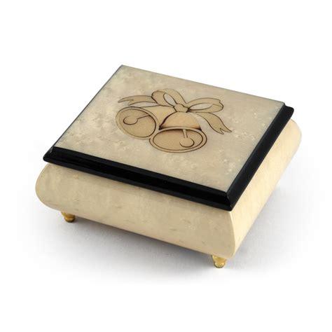 Wedding Jewellery Box by Handcrafted Ivory Wedding Bells Italian Musical Jewelry Box