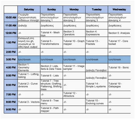 Ctrl Space Lab Diepifaneia Intensive Algorithmic Design Studio Ctrl Space Lab July 5 15 Workshop Schedule Template