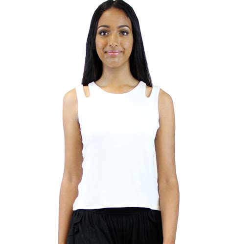 Top Kirana Blouse Out Cut cut out top sleeveless top cut out shoulders top neck