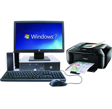 Hp Desk Computer Hp 174 Desktop Pc With Printer And 500 Software Library